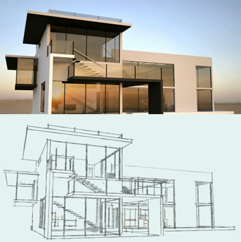 architectural 3d rendering - Architect For Home Design