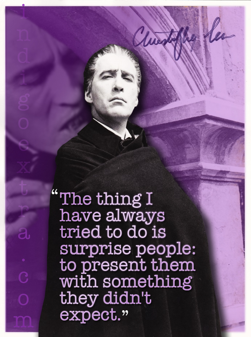 Christopher Lee Inspirational Quote with Photo