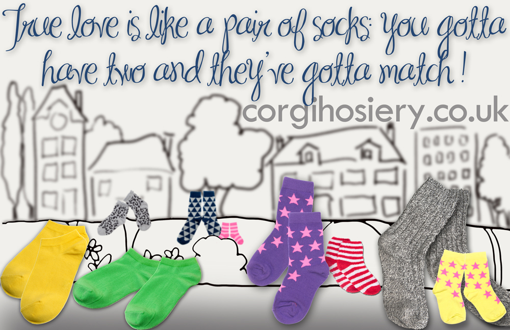 Love is just like socks quotagraphic for Social Media