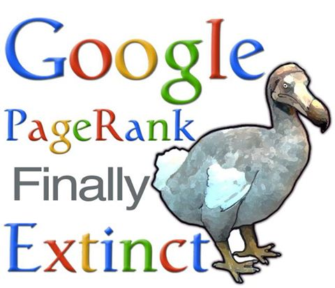 Google PageRank extinct