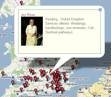 Google map web design UK