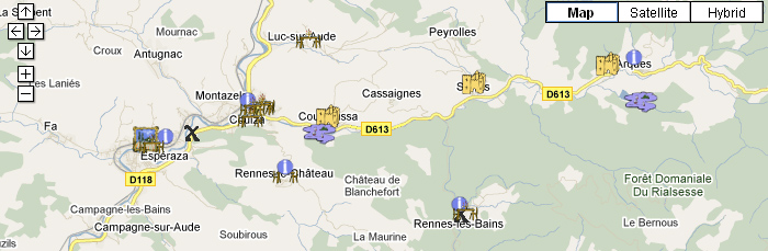 Drupal Map of French holiday attractions