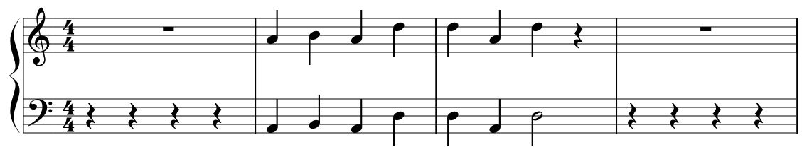 Musical coded note