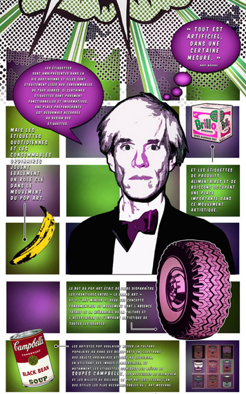 Pop art Infographie