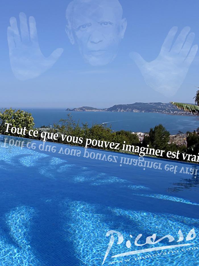 Picasso quote on Spanish coastline