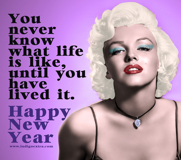 Happy New Year with Marilyn Monroe
