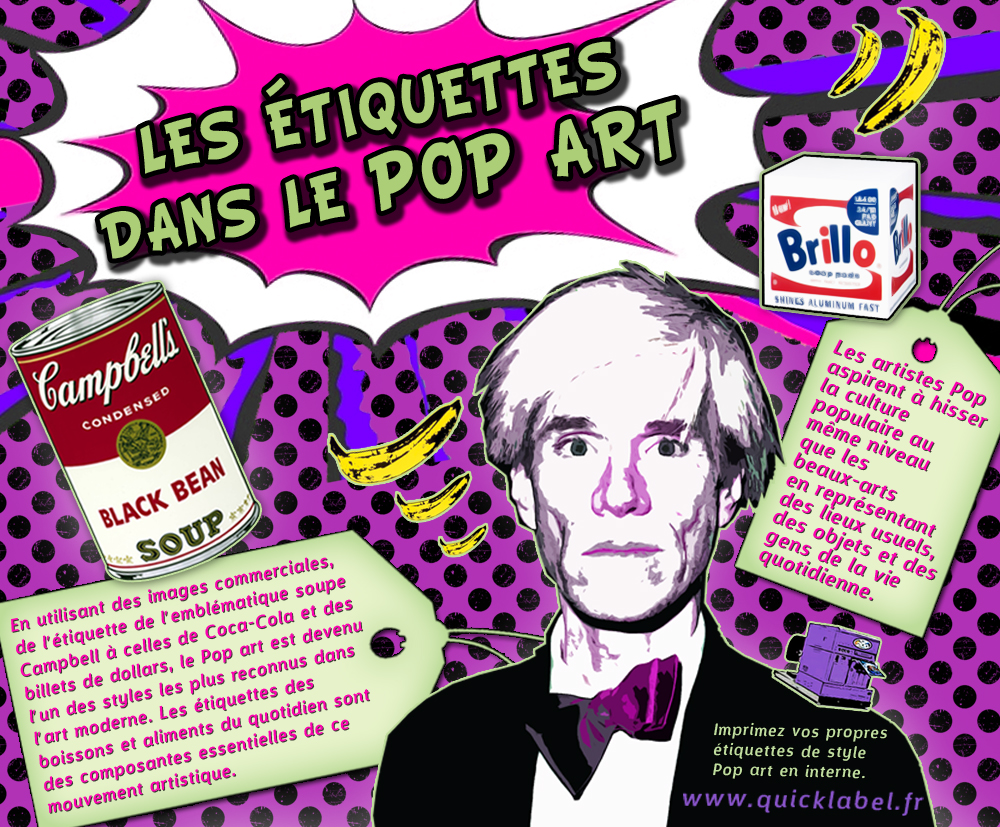 French shareable - Pop art in labels