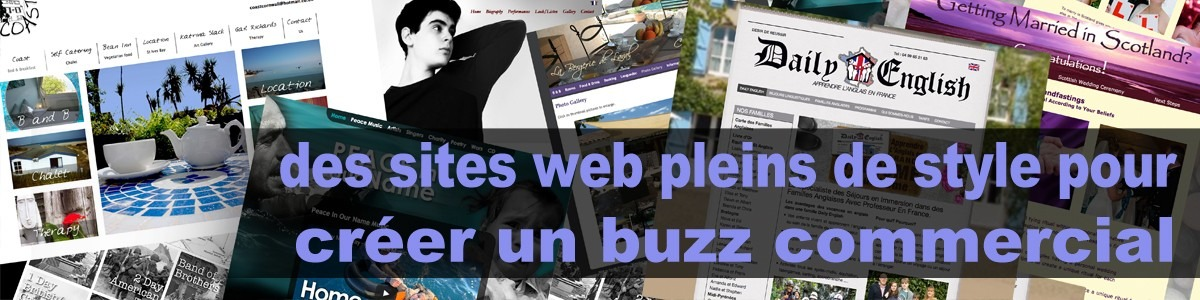 Creation site web anglais