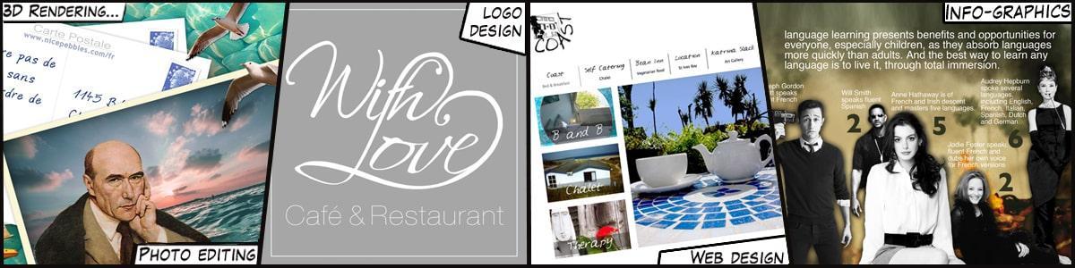 Sample logo designs by Indigoextra