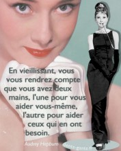 Inspirational Graphic design Audrey Hepburn French Quotagraphic