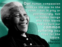Inspirational Graphic design  Nelson Mandela quota graphic