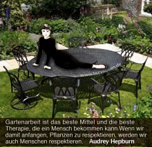 German gardening quote by Audrey Hepburn