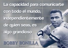 Bobby Bonilla unique quotagraphic image in Spanish