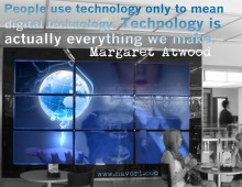Image for social media, technology quotagraphic