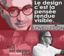 """Quotagraphic Saul Bas in French """"Design is Thinking made visual"""" for sharing"""