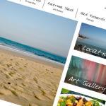 Design d'un site web d'art et de voyage