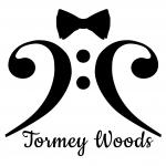 Bass opera singer logo for Tormey Woods