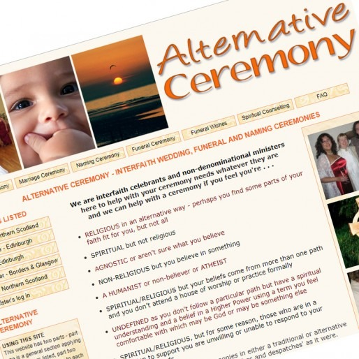 Alternative Ceremony UK website