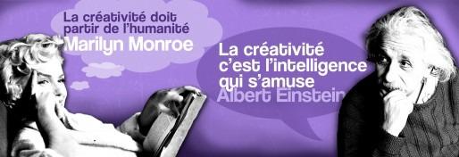 Créativité quotagraphic avec Alber Einstein et Marilyn Monroe