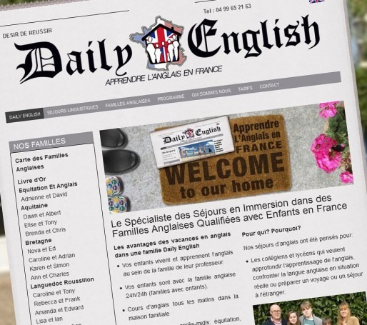 Daily English website France