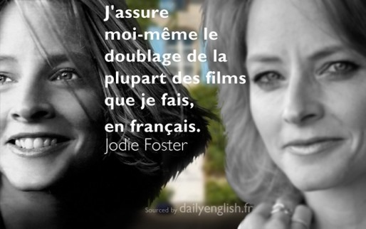 Inspirational Quote  Jodie Foster graphic design image