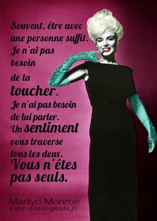 Social Media Graphic design Marilyn Monroe quote