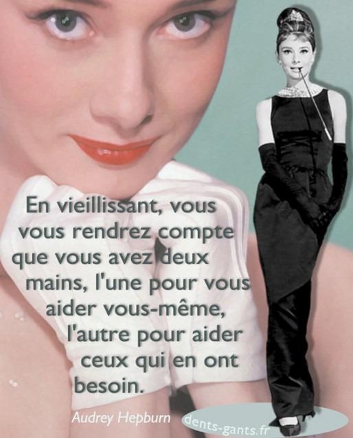 Inspirational Graphic design Audrey Hepburn French Quotagraphic