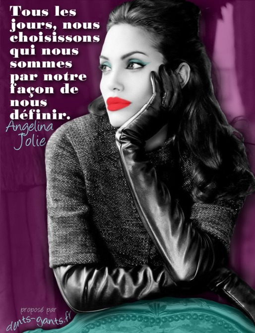 French Angelina Jolie Quote and image