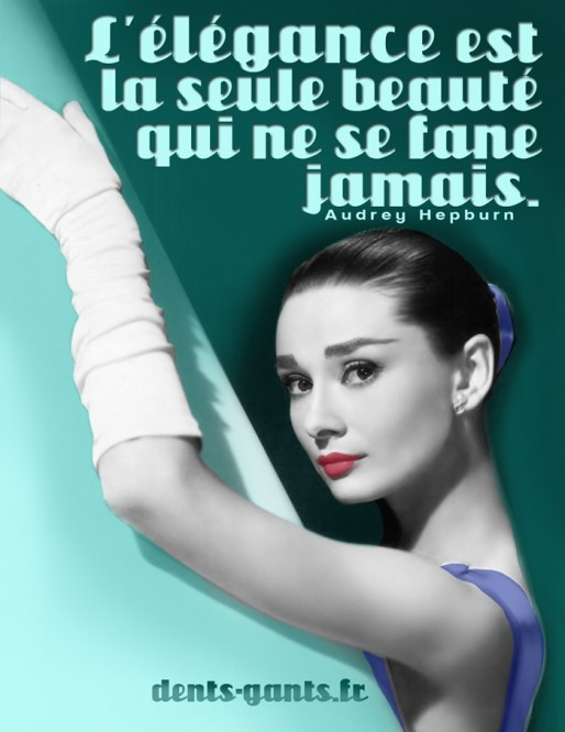 Social Media Quotagraphic  Audrey Hepburn image and quote
