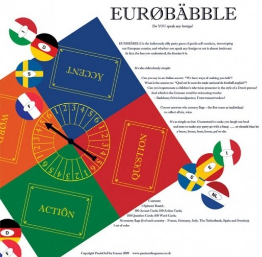 Eurobabble back of box