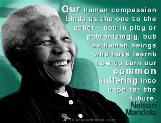 Inspirational Graphic design  Nelson Mandela quota graphic