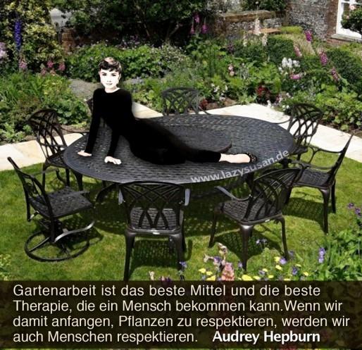 German gardening quote by Audrey Hepburn