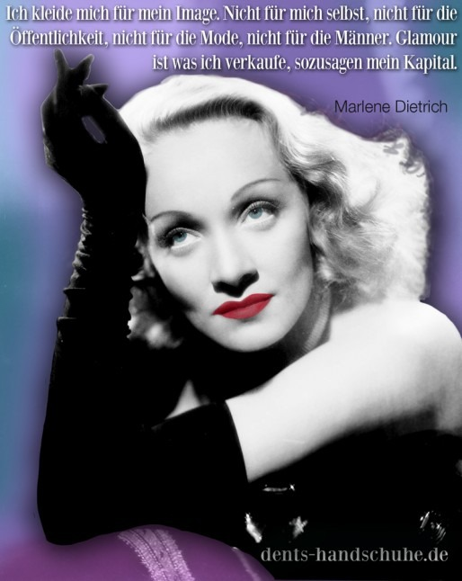 Quotagraphic for German social media Marlene Dietrich.....