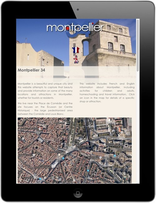 Montpellier - Beautiful responsive website design on a tablet