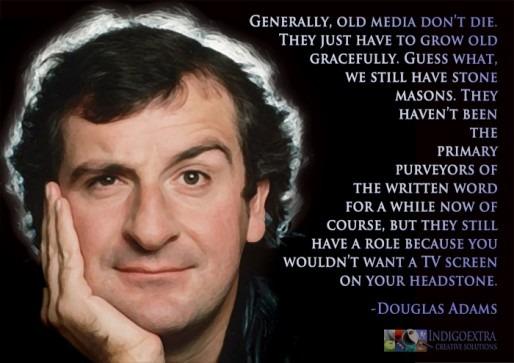 Inspirational image Douglas Adams quotagraphic