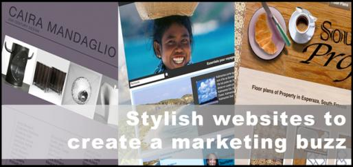 Stylish websites to create a marketing buzz