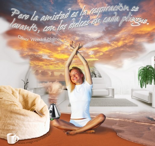 Inspirational quotagraphic relaxing breathing