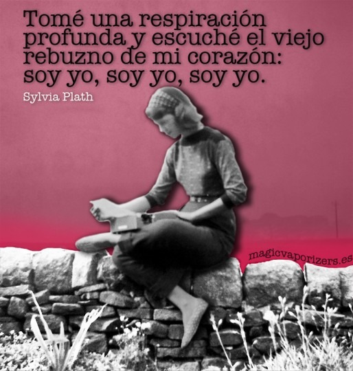 Quotagraphic in Spanish Sylvia Plath