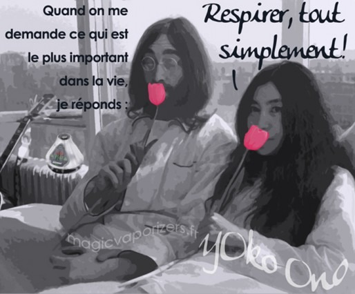 Inspirational French quote from Yoko Ono